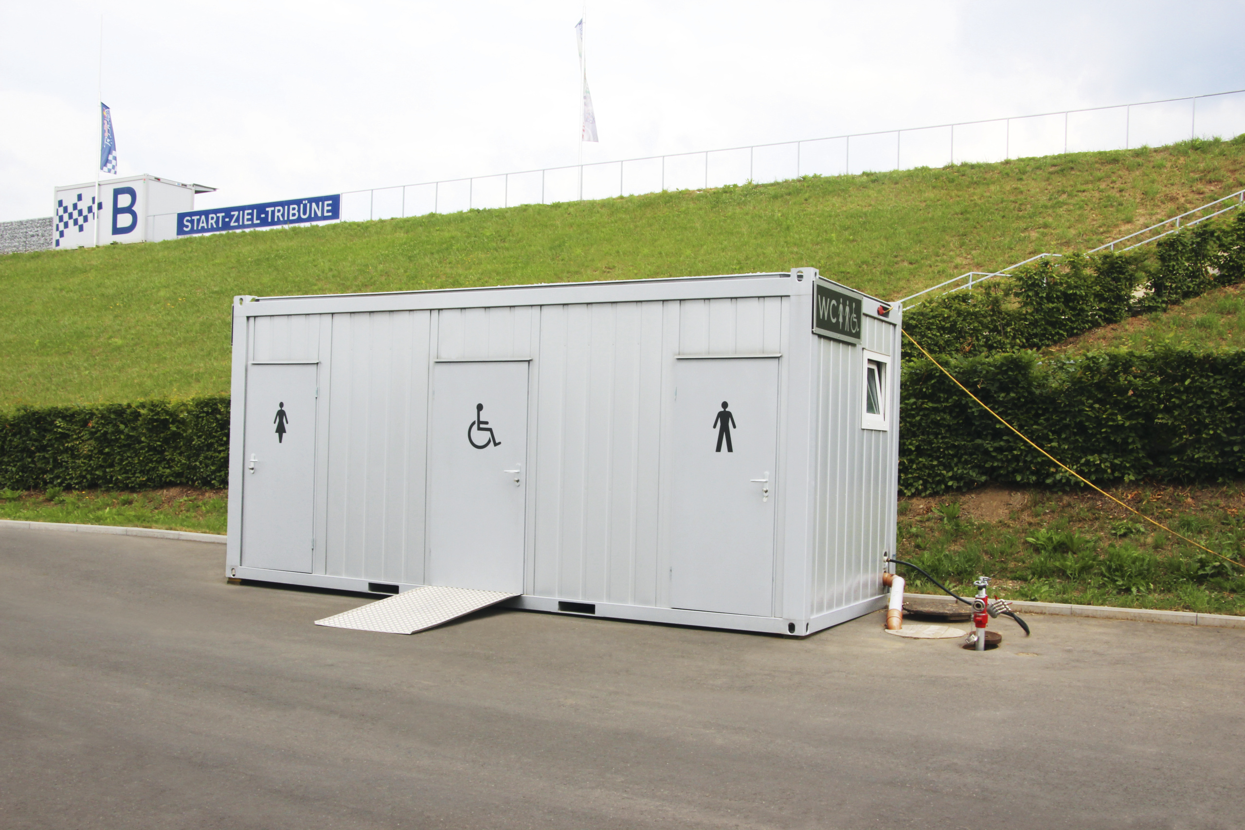 Toilet container unit